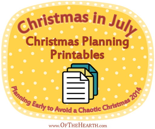 Christmas in July: Christmas Planning Printables