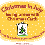 Christmas in July: Going Green with Christmas Cards