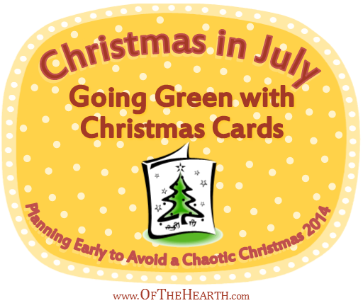 Christmas in July: Going Green with Christmas Cards | Christmas cards use a lot of paper, so they're not particularly green. Fortunately, there are a number of fun, eco-friendly ways to send Christmas greetings.