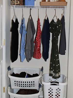 Line Drying Clothes Indoors