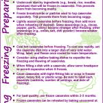 Tips for Freezing Casseroles
