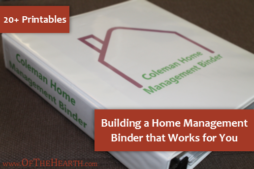 Building a home management binder that works for you for Construction organizer notebook