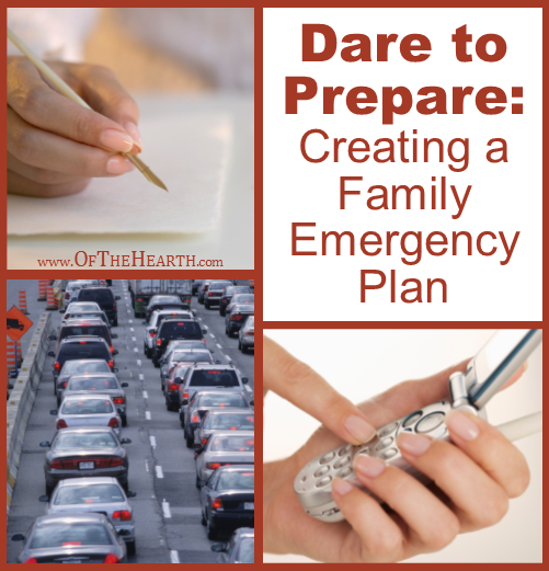 Dare to Prepare: Creating a Family Emergency Plan | When a disaster that requires evacuation occurs, how will your family meet up? Where will you go? Answer these questions with this handy printable.