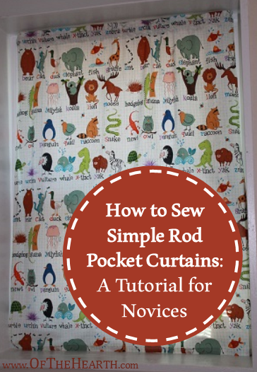 How to Sew Simple Rod Pocket Curtains: A Tutorial for Novices | Spruce up your home with easy-to-sew rod pocket curtains! Check out this step-by-step tutorial that is perfect for novices.