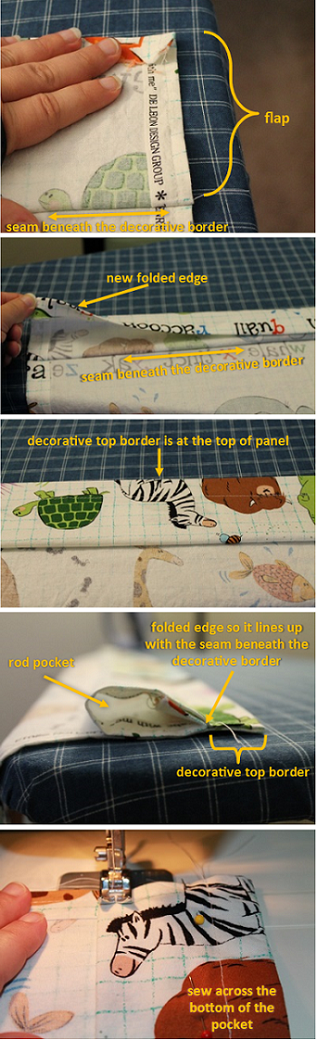 How to Sew a Rod Pocket Curtain – create the pocket