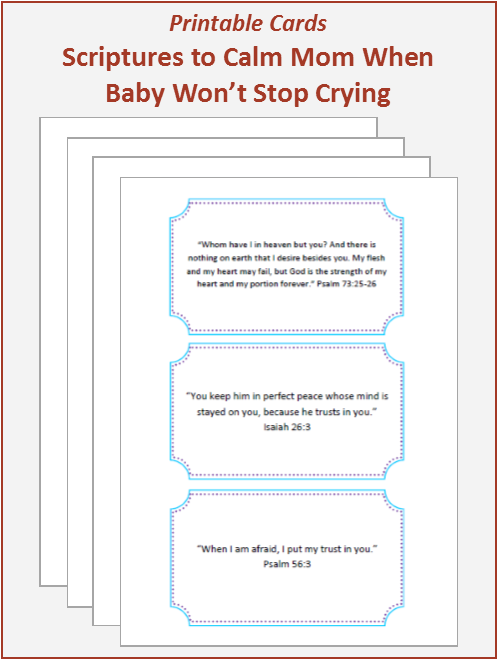 Scriptures to Calm Mom When Baby Won't Stop Crying