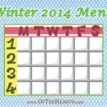 Winter 2014 Menu