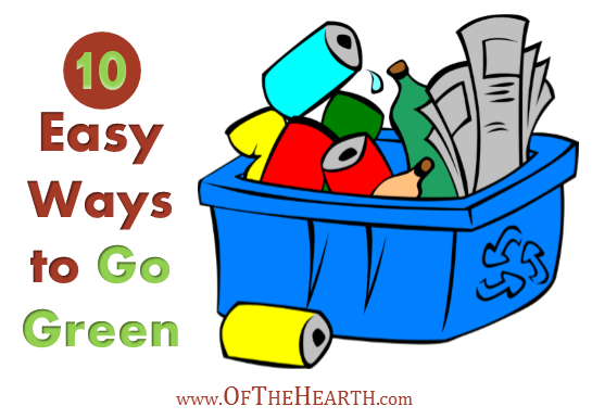 10 Easy Ways to Go Green | Don't shy away from going green! It can be easy and save you money. Check out these 10 simple, uncomplicated ways to go green and save some green.