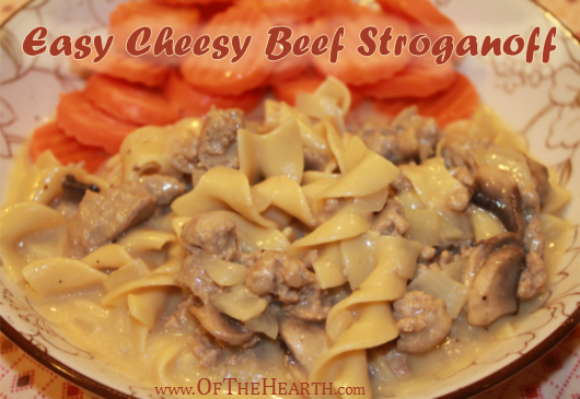 Easy Cheesy Beef Stroganoff recipe | The beefy flavor and creamy texture of Easy Cheesy Beef Stroganoff are irresistible. To top it off, it's affordable and easy to prepare.