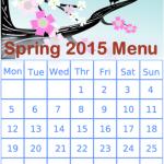 Spring 2015 Menu