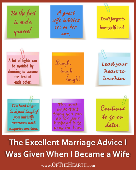The Excellent Marriage Advice I Was Given When I Became a Wife