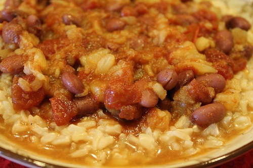 Tropical Red Beans and Rice | Easy-to-prepare Tropical Red Beans and Rice makes a flavorful, hearty meal. At just $0.70 per serving, this nutritious dish is very affordable!