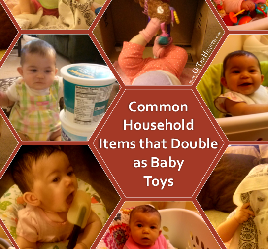 Babies don't need fancy, expensive toys. In fact, if you look around your home, you likely have several household items that can double as baby toys.
