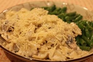 Creamy Mushroon Pasta - Summer 2015 Menu