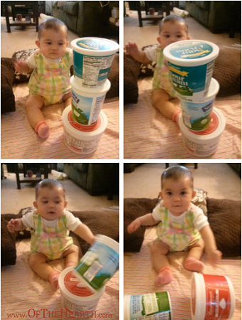 Household Items that Double as Baby Toys - Food Containers with Lids
