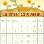Summer 2015 Menu