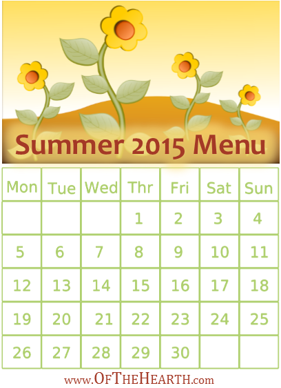 Summer 2015 Menu | What's for dinner in my house during summer 2015? Menu items range from hearty meatloaf parmesan to fun BBQ chicken potato skins.
