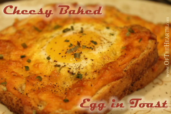 Cheesy Baked Egg in Toast recipe | Cheesy Baked Egg in Toast is a delightful variation of two breakfast classics: eggs and toast. This easy-to-prepare breakfast will become a family favorite.