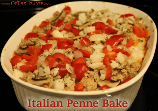 Italian Penne Bake recipe | This family-friendly Italian Penne Bake is a treat for your taste buds, your calendar, and your budget: It is flavorful, easy to make, and affordable.