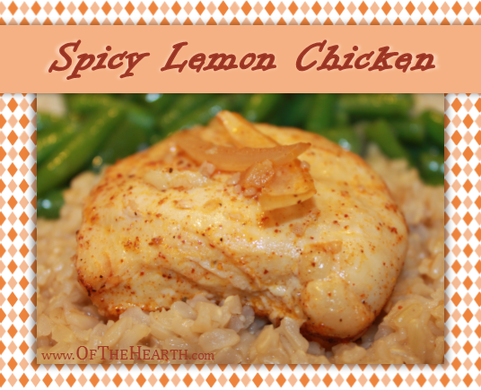 Spicy Lemon Chicken recipe | The spice and citrus of Spicy Lemon Chicken complement one another perfectly. This budget-friendly dish is easily prepared in the slow cooker. Try it tonight!