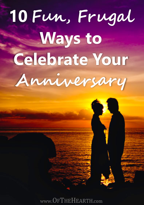 You can have fun celebrating your anniversary even if you're on a tight budget. Check out these ideas for fun, frugal ways to celebrate your anniversary.