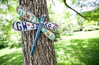 Garden License Plate Dragonfly