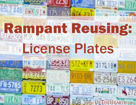 Do you have old license plates collecting dust in your garage? Pull them out and try one of these useful, fun, and creative ideas for reusing license plates.