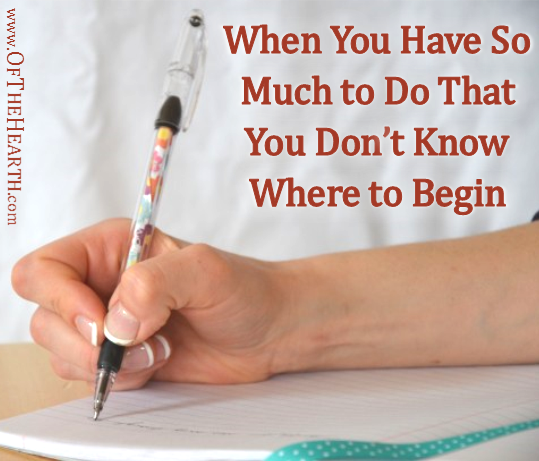 Do you ever feel paralyzed when faced with a large number of tasks? Avoid this feeling with this practical approach to getting started on lengthy to-do lists.