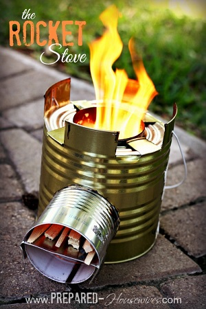 DIY Rocket Stove from cans
