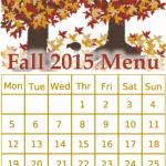 Fall 2015 Menu