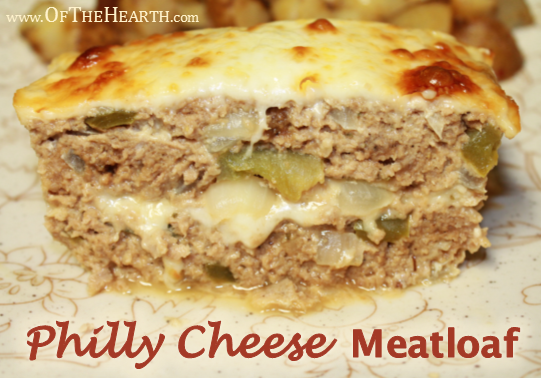 Philly Cheese Meatloaf recipe | Jazz up meatloaf with bell pepper, onion, and provolone cheese to give it the classic flavor of Philly cheesesteak!