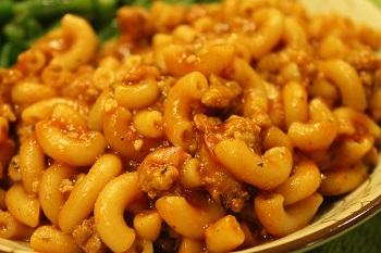 Sloppy Joe Pasta - Fall 2015 Menu
