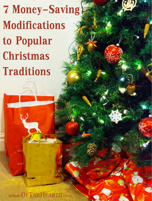 Try some of these money-saving modifications to popular Christmas traditions to have an enjoyable, memorable Christmas on a tight budget.