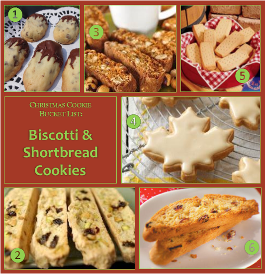Christmas Cookie Bucket List – Biscotti and Shortbread Cookies