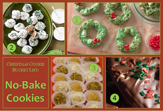 Christmas Cookie Bucket List – No-Bake Cookies