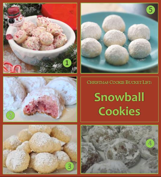 Christmas Cookie Bucket List – Snowball Cookies