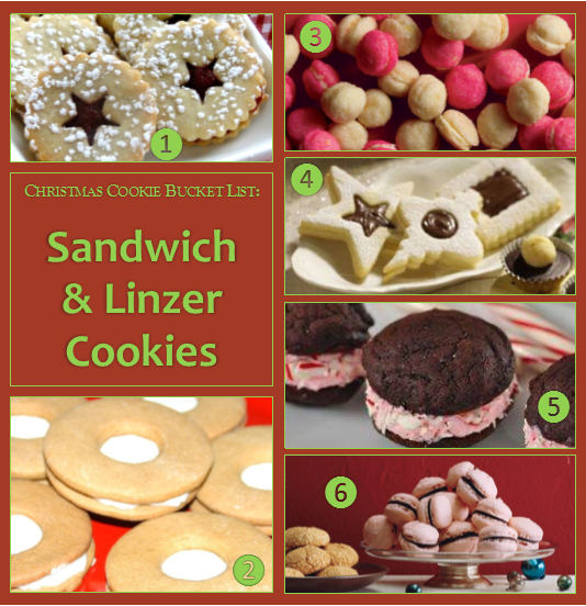 Christmas Cookie Bucket List - Sandwich and Linzer Cookies