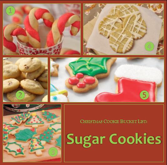 Christmas Cookie Bucket List - Sugar Cookies