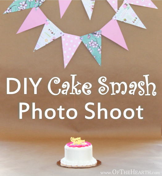 DIY Cake Smash Photo Shoot | DIY cake smash photos are an easy, affordable way to preserve memories of your child's first birthday. Get wonderful photos in three easy steps.