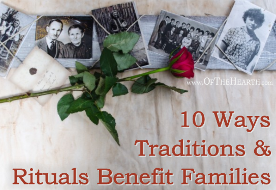 Traditions play a key role in strengthening families. How do they do this? It makes perfect sense if we consider the functions traditions serve in our families.
