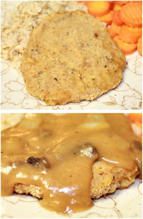 """Baked Chicken Fried Steak 