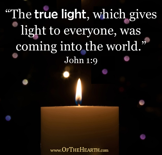 The True Light | The bright, beautiful Christmas lights are a reminder of the incomparable brightness of God, our True Light.