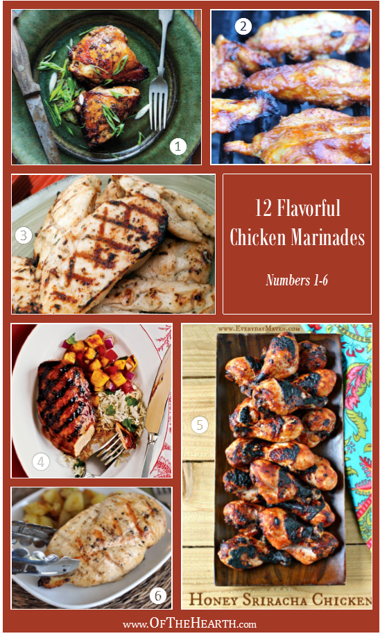 12 Flavorful Ways to Marinate Chicken - Marinades 1-6 | Chicken isn't known for being a flavorful meat. In fact, without a little creativity, it can get old. One of the easiest ways to jazz it up is to use marinades.