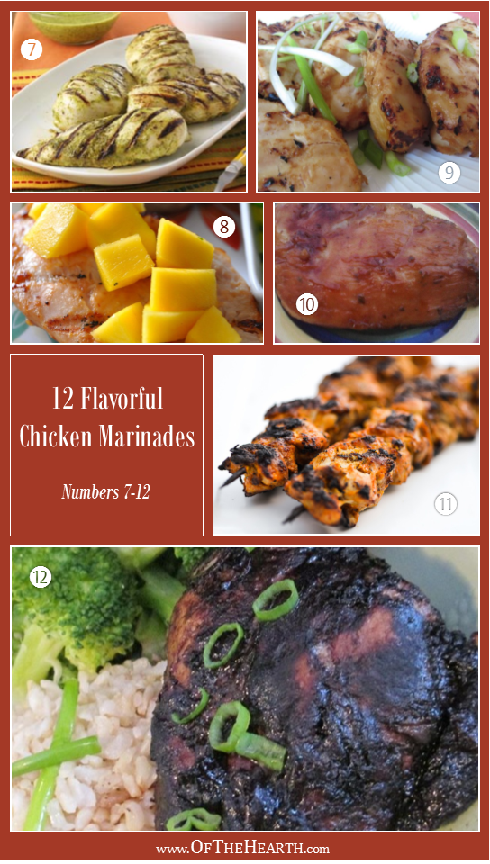 12 Flavorful Ways to Marinate Chicken - Marinades 7-12 | Chicken isn't known for being a flavorful meat. In fact, without a little creativity, it can get old. One of the easiest ways to jazz it up is to use marinades.