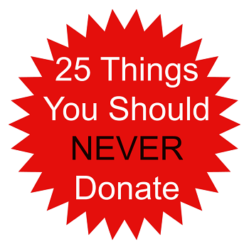 25 Things You Should Never Donate - The Fundamental Home
