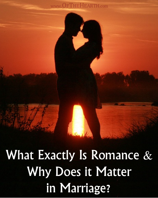 It's so important that we integrate romantic gestures into our marriages. Why is this and what exactly is romance anyway?