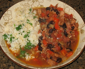 Cuban Ham and Bean Soup with Cilantro Lime Rice - Spring 2016 Menu