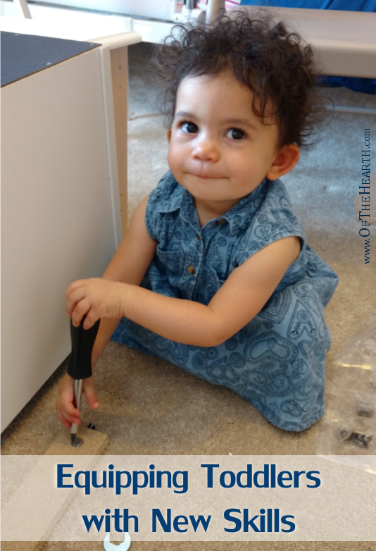 Toddlers are naturally curious. How can we take advantage of this when it is often messy and sometimes scary to help them learn new skills?