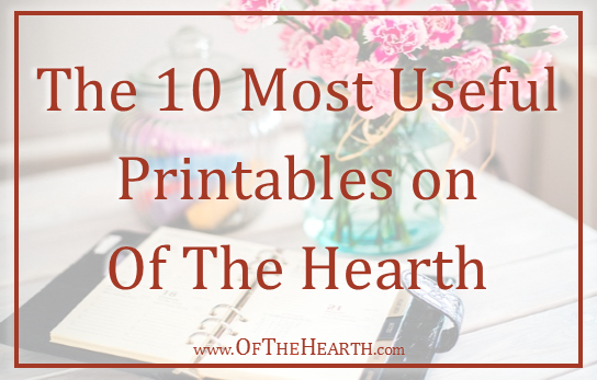 I've shared dozens of printables with you over the last few years. Here are 10 that have been indispensable in helping me be productive and stay organized.