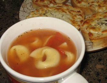 Tortellini Tomato Soup - Summer 2016 Menu